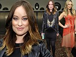 Pregnant Olivia Wilde displays her bump in brightly patterned frock while Molly Sims marvels in orange at W Magazine bash