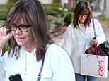 Pampering session: Sally Field kept it casual on Thursday as she visited a hair salon in Beverly Hills, California