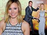 Bell of the ball: Kristen larks around with Veronica Mars co-star Ryan Hansen as their film is honoured at the Variety Breakthrough Of The Year Awards