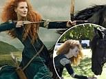 So Brave! Jessica Chastain transforms into feisty Scottish warrior Princess Merida in new Disney portrait