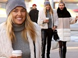 Lean on me! Jessica Hart spends time with her equally stunning sister Ashley who 'begins four month self imposed hiatus' from her boyfriend Buck Palmer