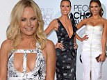 Heidi Klum, Jessica Alba and Malin Akerman show off their figures in daringly low cut gowns on the People's Choice Awards red carpet