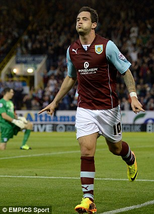 Sharp shooter: Danny Ings has helped fire Burnley to the top of the Championship this season