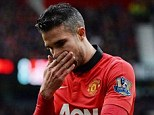 Out: Van Persie was United's star last season, but has missed big parts of this campaign with injury