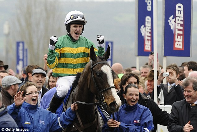 Top of the pile: Jockey Tony McCoy is knocking over the milestones as he approaches his 4,000th winner
