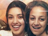 13 going on 30: Kim Kardashian commemorated Throwback Thursday by posting a 20-year-old snapshot of her and friend Nicole Richie as toothy 13 year olds