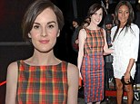 Michelle Dockery and Naomi Harris arrive to The W Magazine Party