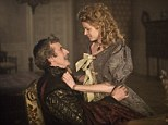 Cardinal Richelieu (Peter Capaldi) and Adele Bessette (Emily Beecham) in The Musketeers