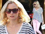 Think pink! Diane Kruger steps out in pink trousers amid engagement rumours