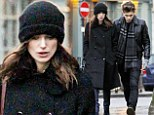 Stylish couple: Keira Knightley strolls in in London with husband James Righton