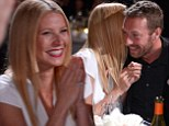 Aren't they sweet? Gwyneth Paltrow and husband Chris Martin put on rare show of PDA at Help Haiti Gala