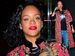 She's a wild flower! Freshly-tattooed Rihanna goes rocker chic with dramatic floral coat as she jets off to Brazil to meet Shakira for a photoshoot