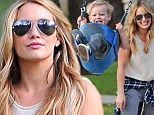 Hilary Duff and Luca at park