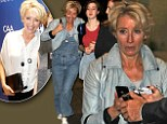 Emma Thompson thankfully ditches pale dungarees in favour of white blouse and trousers for Haiti benefit