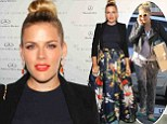 She scrubs up well! Busy Philipps makes a dramatic red carpet turn in jungle print skirt after a casual morning