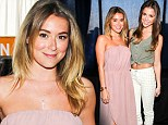 Alexa PenaVega sports newlywed glow as she attends the GBK Pre-Golden Globe Gift Lounge with sister Makenzie one week after surprise wedding