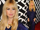 Rachel Zoe drapes her post-baby body in billowy purple gown to attend fashion party honoring her idol Diane Von Furstenberg
