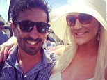 Brynne Edelstein, 31, parties at the polo solo while rumours swirl that her marriage with millionaire husband Geoffrey Edelstein, 70, is over as he files for bankruptcy