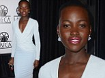 A vision in white! Lupita Nyong'o steals the spotlight in chic two-toned dress at Film Critics Awards