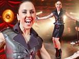 Sporty fab at Forty! Mel C spices things up in belted leather coat dress during special gig to mark milestone birthday