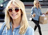 Snacking with the stars! Julianne Hough is all smiles as she double fists frozen treats while hauling home a bag of goodies