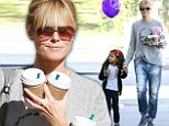 Casual Saturday: Heidi Klum ditched her usual high fashion attire in favor of a more laid-back ensemble while out and about on Saturday