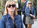 Reese Witherspoon flashes her slender legs in animal print skirt as she gears up to present at the Golden Globes