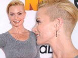 Pulling a Miley: Jaime Pressly chopped off her honey blonde locks again, sporting the Miley-like do at The Nut Job world premiere in Los Angeles on Saturday morning