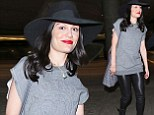 Hair today: Jessie J shows off new hair piece as she arrived in LA on Saturday