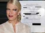 Tori Spelling claims she and husband have paid rent on former home after they are served with eviction notice by landlord