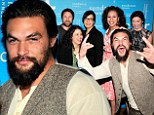 Party time! Jason Momoa photobombed the cast of The Red Road during the TCA Presentation of Sundance Channel's The Red Road at the Langham Hotel in Pasadena, California on Sunday.