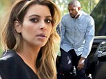 Oops! Kim Kardashian and Kanye West inspect the damage after he scrapes neighbouring car with his Lamborghini