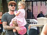 David Beckham takes delivery of Damien Hirst heart painting to decorate Harper's nursery