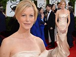Taking their breath away! Anna Gunn shows off her newly slim figure in creamy strapless gown at the Golden Globes