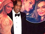 Happy birthday, mom! Beyonce (top middle) and Jay Z celebrated her mother Tina Knowles' (right) 60th birthday on Saturday