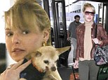 Katherine Heigl and Gertie at LAX
