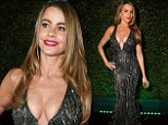 'Feeling so J-Lo!' Sofia Vergara showcases her famous figure in plunging sequined gown for Golden Globes after-party