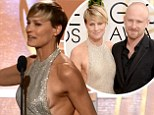 Robin Wright, 47, suffers wardrobe malfunction as she accepts Golden Globe award after putting on sideshow on red carpet with new fianc�