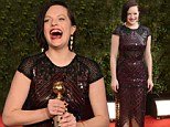 Moving on from Mad Men! Dazzling Elisabeth Moss wins Best Actress for her first leading lady role in Top of the Lake