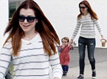 Alyson Hannigan takes daughter Keeva out for a walk