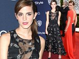 Emma Watson swaps daring backless dress for black sheer number with pretty silver embellishment for Golden Globes after party