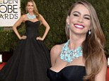 She's got some front! Sofia Vergara dominates the Golden Globes carpet with her stupendous cleavage and huge gown