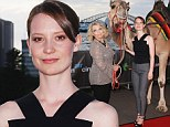Not your average date! Mia Wasikowska turns up to the premiere of her new movie Tracks without boyfriend Jesse Eisenberg and is instead joined by... a camel