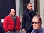 Old stomping ground: Seinfeld's Jerry Seinfeld and Jason Alexander are spotted outside Tom's Restaurant sparking rumours of a reunion