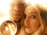 'My baby love and I are ENGAGED!!!' Ashlee Simpson can't contain happiness as Evan Ross proposes after seven months of dating
