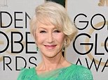 Helen Mirren, 68, sizzled in a figure-hugging beaded Jenny Packham gown, and borrowed some Bulgari diamond stud emerald earrings, once worn by Italian actress Gina Lollobrigida