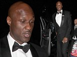 Lonely Lamar: Khloe Kardashian's estranged husband smartens up in tuxedo... but looks lost without her at Golden Globes after party