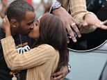How romantic! Beaming newlyweds Bobbi Kristina Brown and 'adopted brother' husband Nick Gordon share passionate embrace... in CVS parking lot