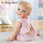 Tiny Miracles Hailey Needs A Hug Realistic Baby Doll: So Truly Real - Exclusive Realistic Baby Girl Doll is the First-ever So Truly Real® Tiny Miracles? All-vinyl Doll by Cindy McClure