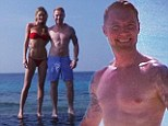 Ronan Keating and girlfriend Storm Uechtritz show off their toned beach bodies in candid Twitter photos from the Maldives